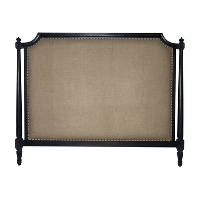 Isabelle Upholstered Panel Headboard Size: King, Color: Hand Rubbed Black
