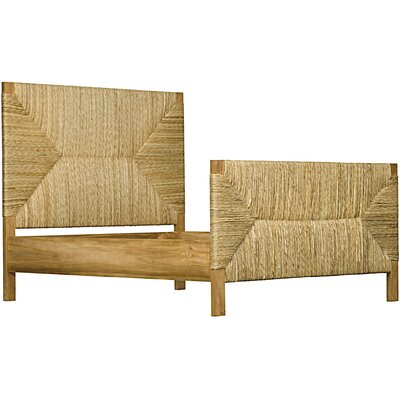 Holden Panel Bed Size: King, Finish: Teak with Seagrass