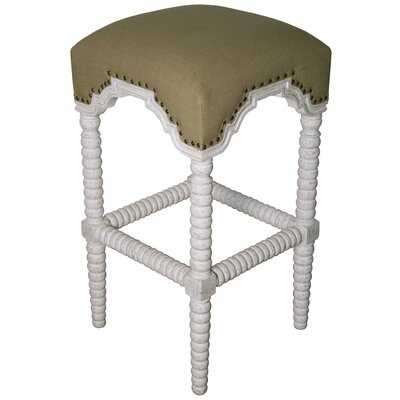 Abacus 30 Bar Stool Finish: White Wash