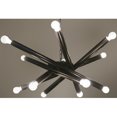 Lex 12-Light Sputnik Chandelier Finish: Black