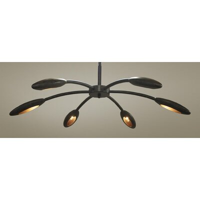 Rufus 6-Light Semi Flush Mount Size: 14.5 H x 43 W x 43 D