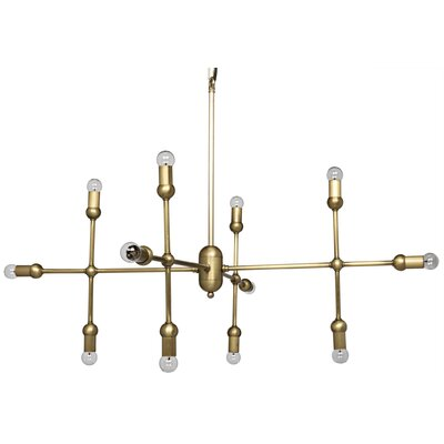 Crossover 12-Light Sputnik Chandelier Finish: Antique Brass