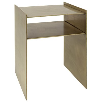 Cyrus End Table Color: Antique Brass