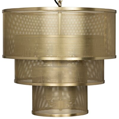 Arena 8-Lights Drum Chandelier Finish: Antique Brass