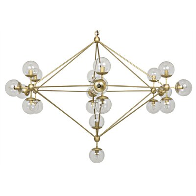 Pluto 21-Light Sputnik Chandelier Finish: Antique Brass
