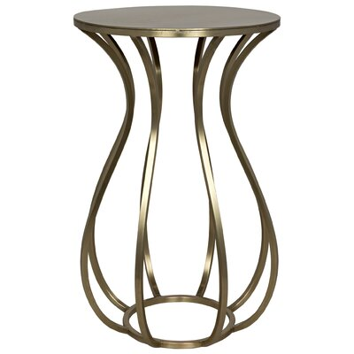 Marie End Table Finish: Antique Silver