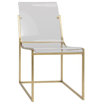 Pascoe Dining Chair Finish: Antique Brass