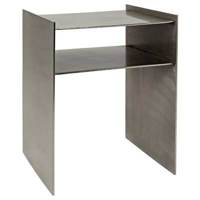 Cyrus End Table Color: Antique Silver