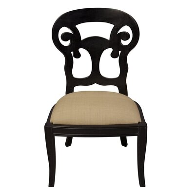 Picture of Noir Saragossa Side Chair in Large Size