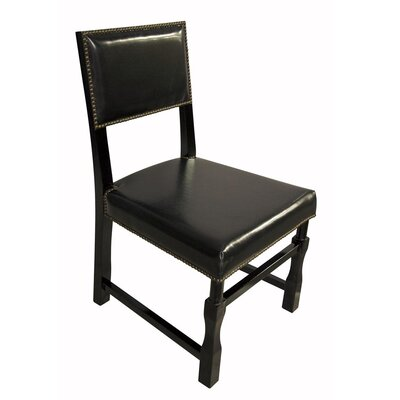 Leather Genuine Leather Upholstered Dining Chair Finish: Black