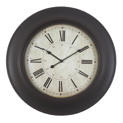 Oversized 24 Roman Woodgrain Wall Clock