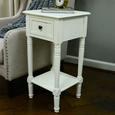 Adaline End Table Color: Antique White