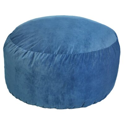 Comfort Cloud Bean Bag Chair Upholstery: Blue, Size: 4