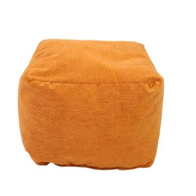 Medium Corduroy Ottoman Upholstery: Orange