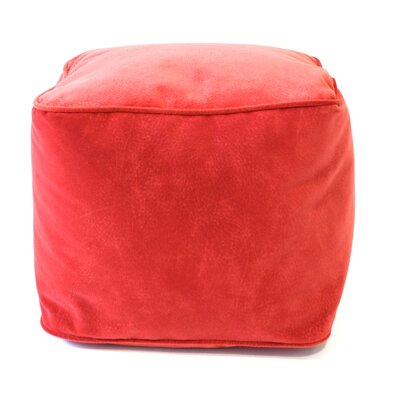 Medium Corduroy Ottoman Upholstery: Flame Red