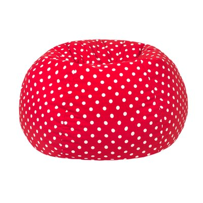 Polka Dot Bean Bag Chair Upholstery: Red