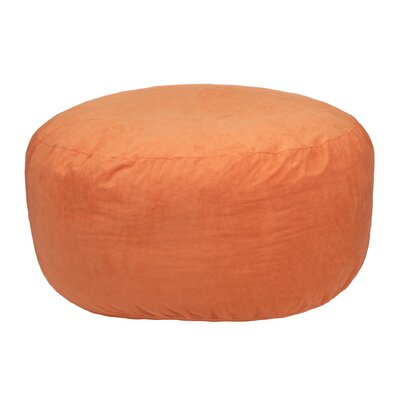 Comfort Cloud Bean Bag Chair Upholstery: Orange