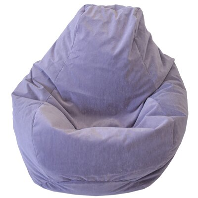 Teardrop Microfiber Suede Corduroy Bean Bag Chair Upholstery: Lilac