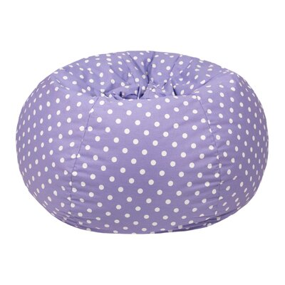 Polka Dot Small Bean Bag Chair Upholstery: Lavender