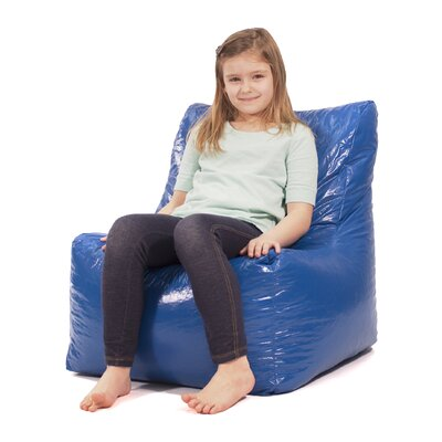 Wet Look Bean Bag Lounger Upholstery: Blue