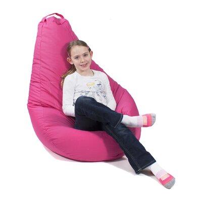 Dorm Bean Bag Chair Upholstery: Pink