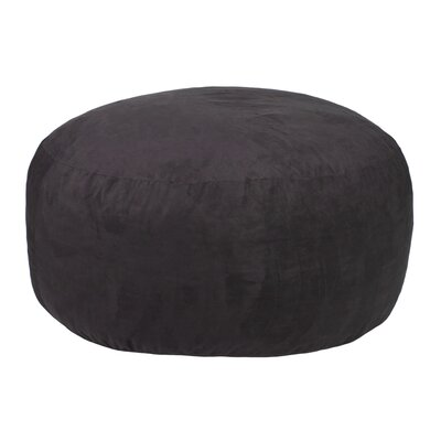 Comfort Cloud Bean Bag Chair Upholstery: Black