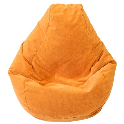 Teardrop Microfiber Suede Corduroy Bean Bag Chair Upholstery: Orange