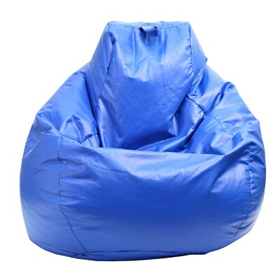 Wet Look Bean Bag Chair Upholstery: Blue