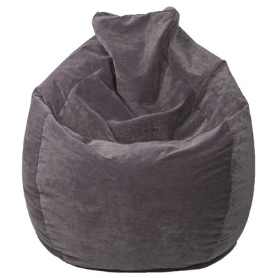 Teardrop Microfiber Suede Corduroy Bean Bag Chair Upholstery: Charcoal