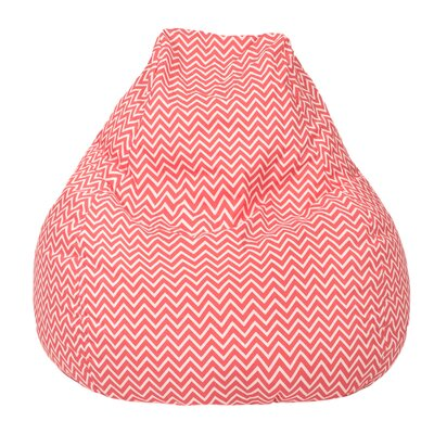 Cosmo Bean Bag Chair Upholstery: Coral