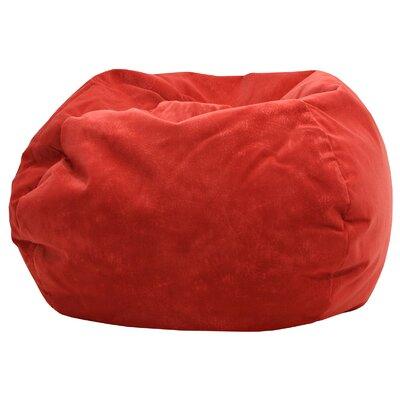 Medium Bean Bag Chair Upholstery: Flame