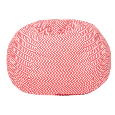 Cosmo Medium/Tween Bean Bag Chair Upholstery: Coral