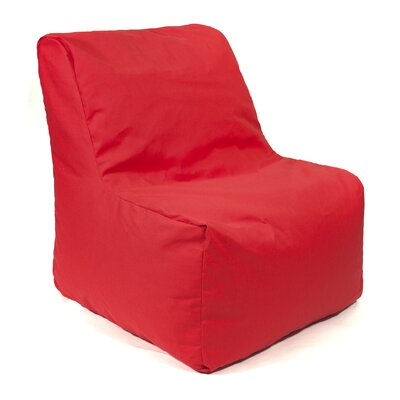 Denim Look Bean Bag Chair Upholstery: Red