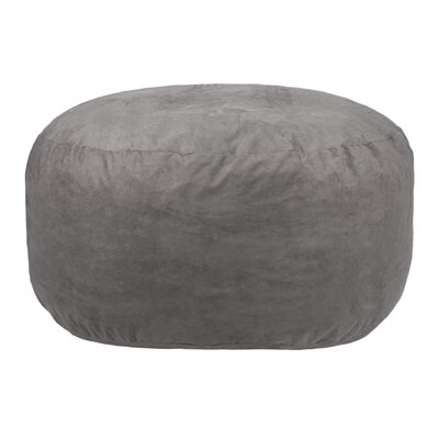 Comfort Cloud Bean Bag Chair Upholstery: Gray