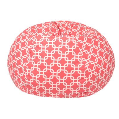 Gotcha Medium/Tween Bean Bag Chair Upholstery: Coral