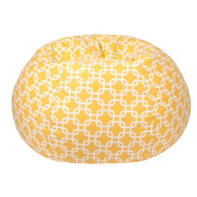 Gotcha Medium/Tween Bean Bag Chair Upholstery: Natural Yellow