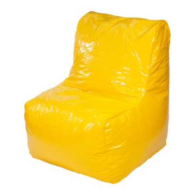 Wet Look Bean Bag Lounger Upholstery: Yellow