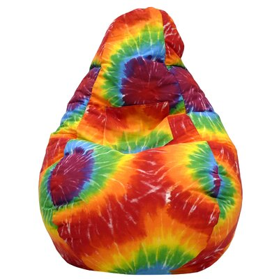 Dorm Bean Bag Chair Upholstery: Tie Dye