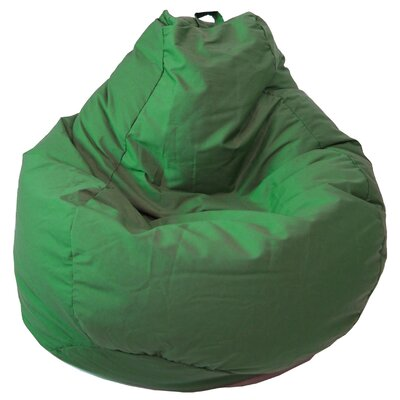 Denim Look Bean Bag Chair Upholstery: Dark Green