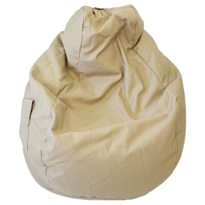 Denim Look Bean Bag Chair Upholstery: Khaki