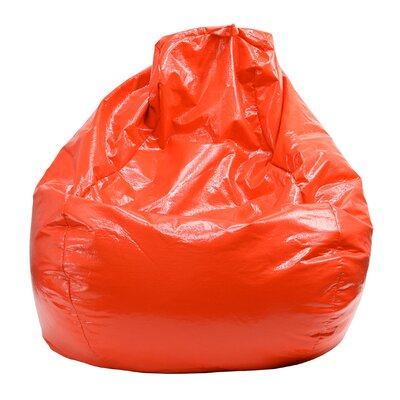 Wet Look Bean Bag Chair Upholstery: Red