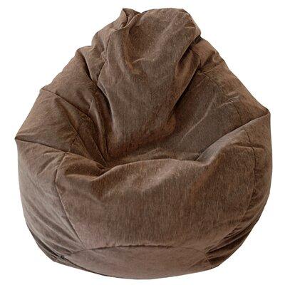 Teardrop Microfiber Suede Corduroy Bean Bag Chair Upholstery: Toast
