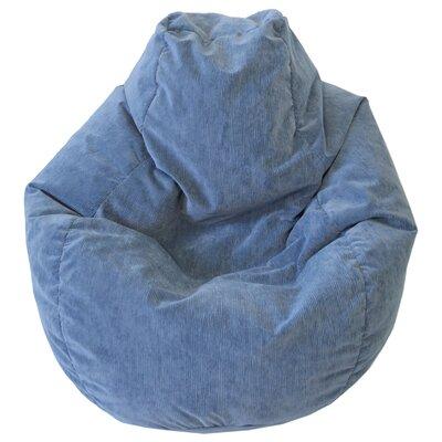 Teardrop Microfiber Suede Corduroy Bean Bag Chair Upholstery: Sky