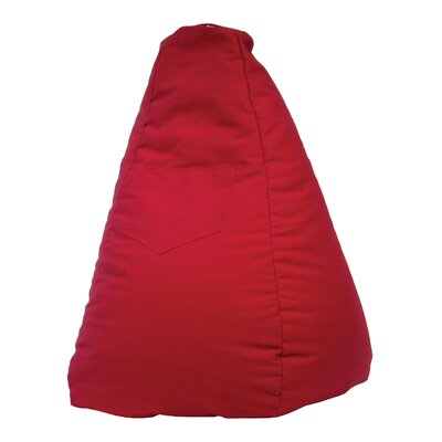 Dorm Bean Bag Chair Upholstery: Red
