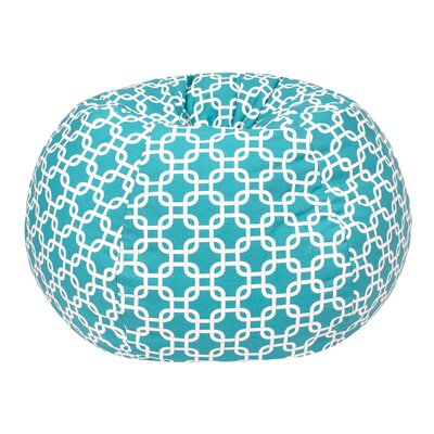 Gotcha Large Bean Bag Chair Upholstery: Turquoise