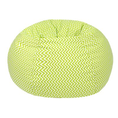 Cosmo Medium/Tween Bean Bag Chair Upholstery: Chartruese