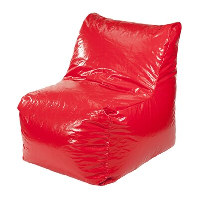 Wet Look Bean Bag Lounger Upholstery: Red