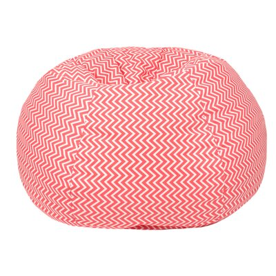 Cosmo Small/Toddler Bean Bag Chair Upholstery: Coral