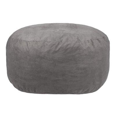 Comfort Cloud Bean Bag Chair Upholstery: Gray