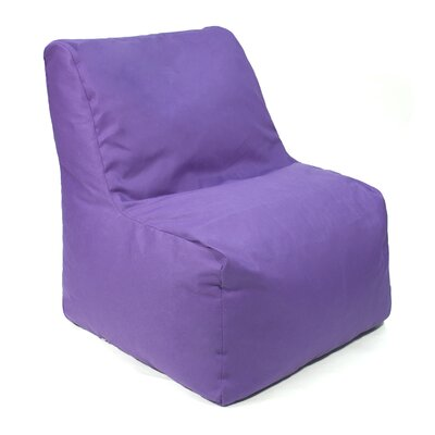 Denim Look Bean Bag Chair Upholstery: Purple